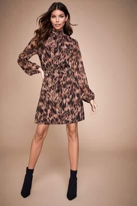 Lipsy High Neck Shirred Mini Dress - 4 - Black