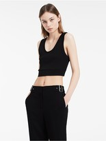Calvin Klein Platinum Mercerized Cotton Ribbed Tank Top