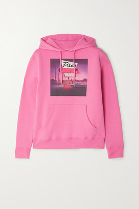 Paco Rabanne Printed Cotton-jersey Hoodie - Pink