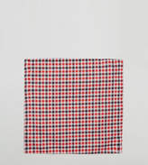 Reclaimed Vintage Inspired Pocket Square In Red Gingham Check