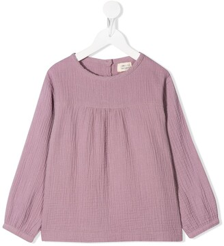 Longlivethequeen Crinkle-Effect Fitted Top