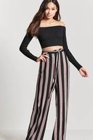 Forever 21 Wide-Leg Stripe Pants