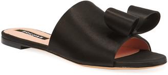 Rochas Bow Slide Mule Flats