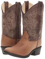 Old West Kids Boots J Toe Vintage (Toddler/Little Kid) (Tan) Cowboy Boots