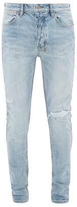 Ksubi Van Winkle Distressed Skinny-fit Jeans - Mens - Light Blue