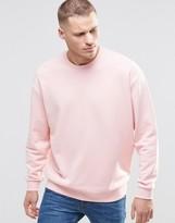 Asos Oversized Sweatshirt In Pink
