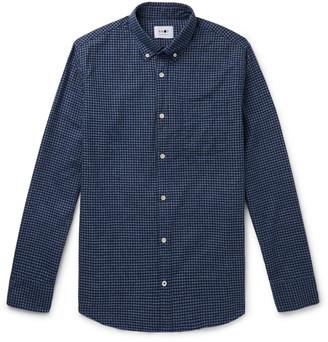 NN07 Levon 5190 Slim-Fit Button-Down Collar Checked Cotton-Flannel Shirt