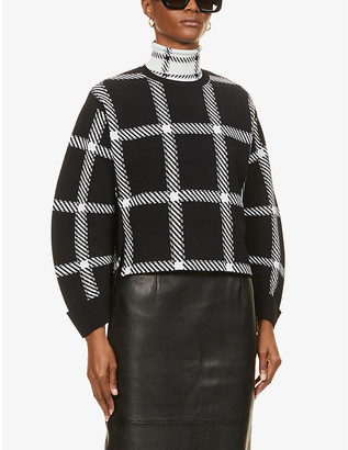 Stella McCartney Tartan-print knitted jumper