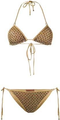 Missoni Mare Sequin Embroidered Bikini Set