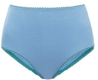 Araks Mabel High-rise Cotton Briefs - Blue