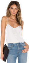 L'Academie The Button Cami Blouse in White