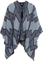 Maje Intarsia-knit wool-blend wrap