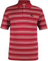adidas Men's Louisville Cardinals Puremotion Stripe Polo