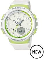 Baby-G Casio Baby G Casio Baby G Step Tracker White Resin Strap Ladies Watch