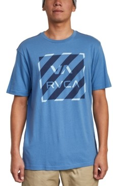 RVCA Men's Hazard Box Logo Graphic T-Shirt