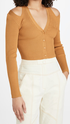 Jonathan Simkhai Jolie Cut Out Shoulder Cardigan