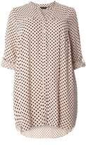 Dorothy Perkins DP Curve Black And Nude Spot Print Shirt