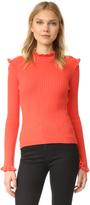 Derek Lam 10 Crosby Ruffle Cashmere Sweater