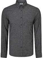 J. Lindeberg Daniel Check Long Sleeve Cotton Shirt, Black/white