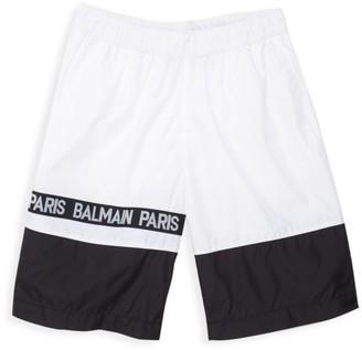 Balmain Little Boy's & Boy's Two-Tone Swim Shorts
