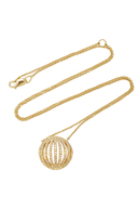Susan Foster 18K Gold Diamond and Enamel Necklace