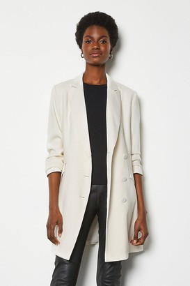 Karen Millen Double-Breasted Tuxedo Jacket