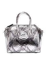 Givenchy Antigona Mini Laminated Python Satchel Bag