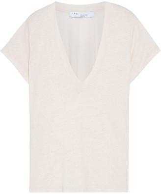 IRO Rodeo Neon Slub Linen-jersey T-shirt