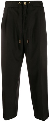 Versace Cropped Drawstring Waist Trousers