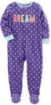 Carter's 1-Pc. Dot-Print Dream Footed Fleece Pajamas, Baby Girls (0-24 months)