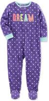 Carter's 1-Pc. Dot-Print Dream Footed Fleece Pajamas, Baby Girls