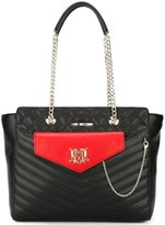Love Moschino pouch detail tote