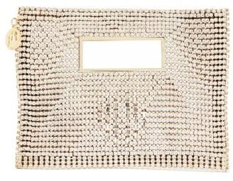 Rosantica Iside Crystal-embellished Envelope Clutch Bag - Crystal