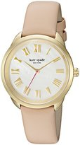 Kate Spade Women's 'Crosstown' Quartz Stainless Steel and Leather Casual Watch, Color:Brown (Model: KSW1247)