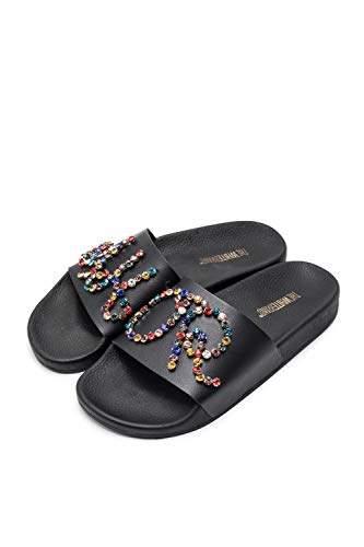 Brand The Women's SandalsBlack White Amor Open Toe CBoderx