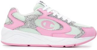 Chiara Ferragni Colour Block Glitter Sneakers