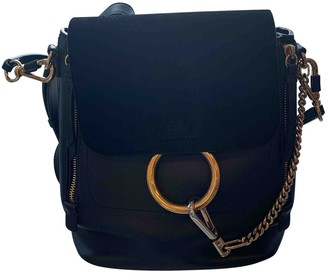 Chloé Faye Black Leather Backpacks