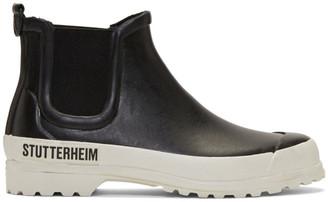 Stutterheim Black and White Novesta Edition Rainwalker Boots