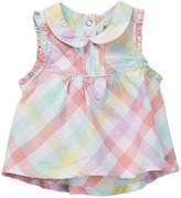 Kanz Sleeveless Plaid Print Tunic (Baby & Toddler Girls)