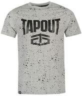 Tapout Mens Splatter T Shirt Tee Top Crew Neck Short Sleeve Cotton Regular Fit