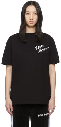 Palm Angels Black Sacred Heart T-Shirt