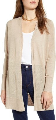 Halogen Side Slit Cardigan