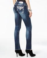 Miss Me Embellished Slim Straight-Leg Jeans