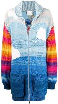 Stella McCartney Smile knitted zipped cardigan
