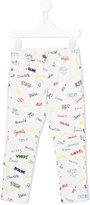 Stella McCartney printed trousers - kids - Cotton/Spandex/Elastane - 4 yrs