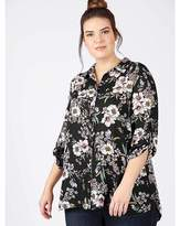 Freya Lovedrobe GB black floral print shirt