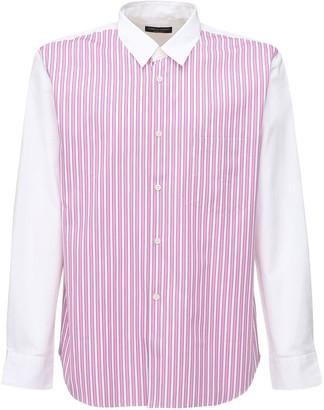 Comme des Garcons Striped Cotton Poplin Shirt