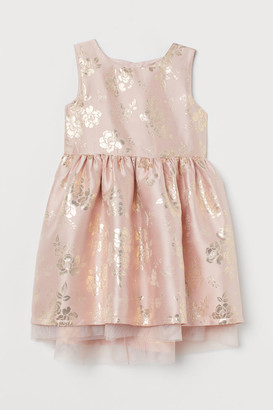 H&M Brocade Dress with Tulle - Pink