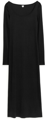 Arket Fitted Lyocell Dress