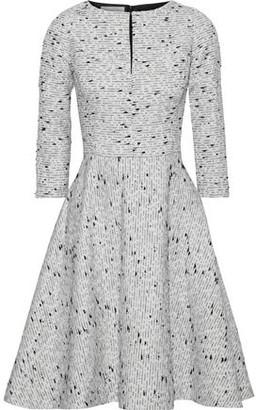 Oscar de la Renta Flared Brushed Silk-boucle Dress
